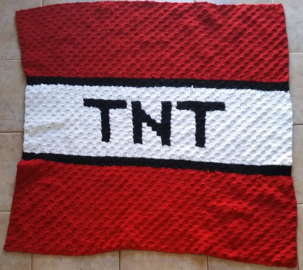 Minecraft Tnt Graphgan And A Free Graph Crochet By Carms